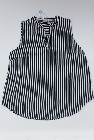NOWA bluzka top biało czarne paski H&M 42 z metki 79,99 pln