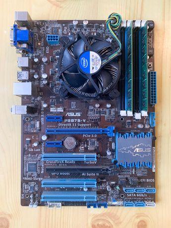 Материнская плата с процессором i5 и оперативной памятью 16gb