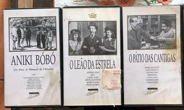03 VHS - Filmes Português. (ORIGINAL)