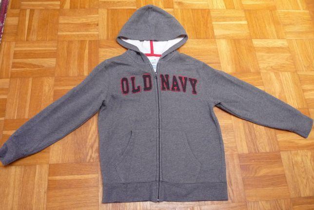 Bluza szara old navy z kapturem rozpinana