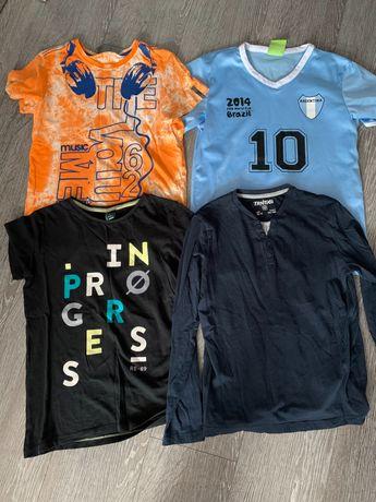 4 szt koszulki chłopięce 140-146 cm