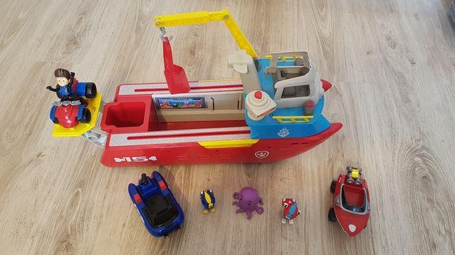 Łódka Psi patrol. Patrol morski + dodatki