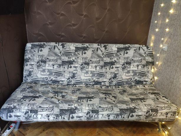 Раскладной диван на ламелях