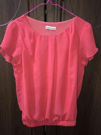 Блуза блузка футболка коралловый цвет 42 44