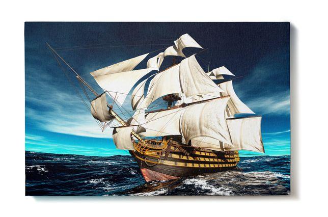 Obraz na płótnie wzór: ŻAGLOWIEC 40x60 cm