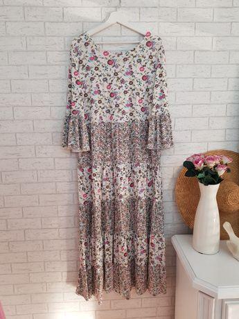 Midi sukienka w kwiaty roz 46 XXXL Asos nowa