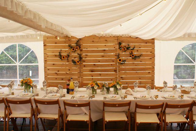 Ścianka drewniana rustykalna na ślub - sprzedaż