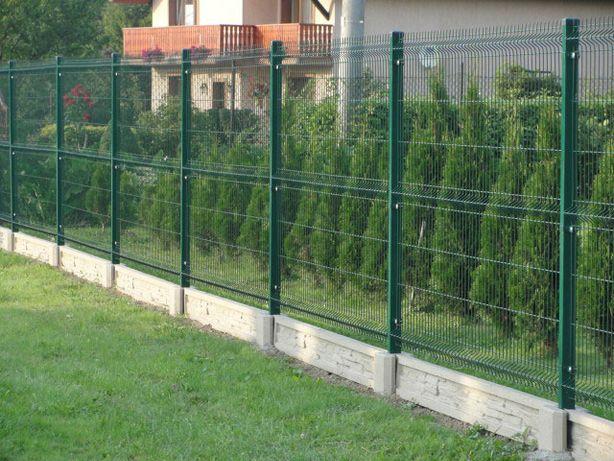 Ogrodzenie panelowe 1.53m x 2.50m drut 4mm plus podmurówka MONTAŻ