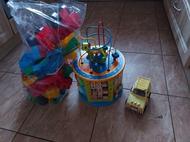 Zabawka edukacyjna drewniana + inne klocki i