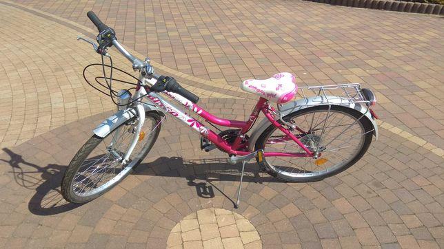 Śliczny rower dla dziewczynki 24 cale