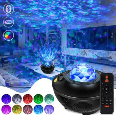 Star Projector - Projektor Gwiazd LED 2021 + glośnik bluetooth + laser