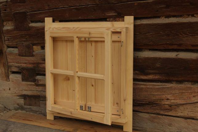 Okno drewniane z okiennicą Domek dla dzieci altana okiennice 55x55c