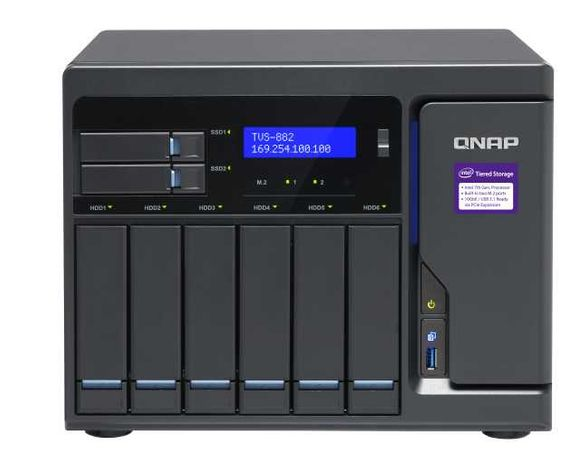 QNAP TVS-882 - RAM: 32GB CPU: Intel Core i5-6500 3.20Ghz (4 Cores)