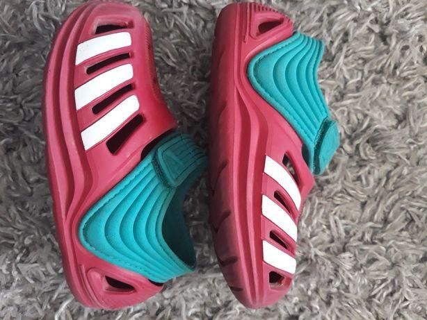 Różowe sandałki, crocsy Adidas na lato, basen, wakacje rozm. 23