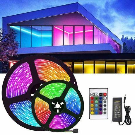 LED-лента RGB 3,5/5мм IP65  водо/пилонепроникна БП 12В 3А + контроль