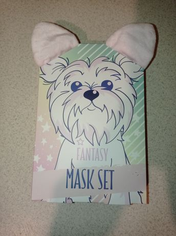 Maska na twarz z opaska z uszami psa
