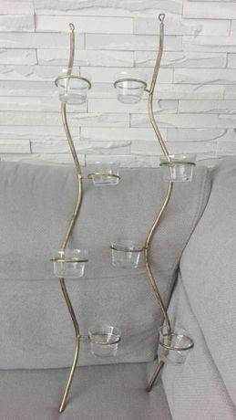 Komplet dwóch świeczników- Metaloplastyka- Prezent
