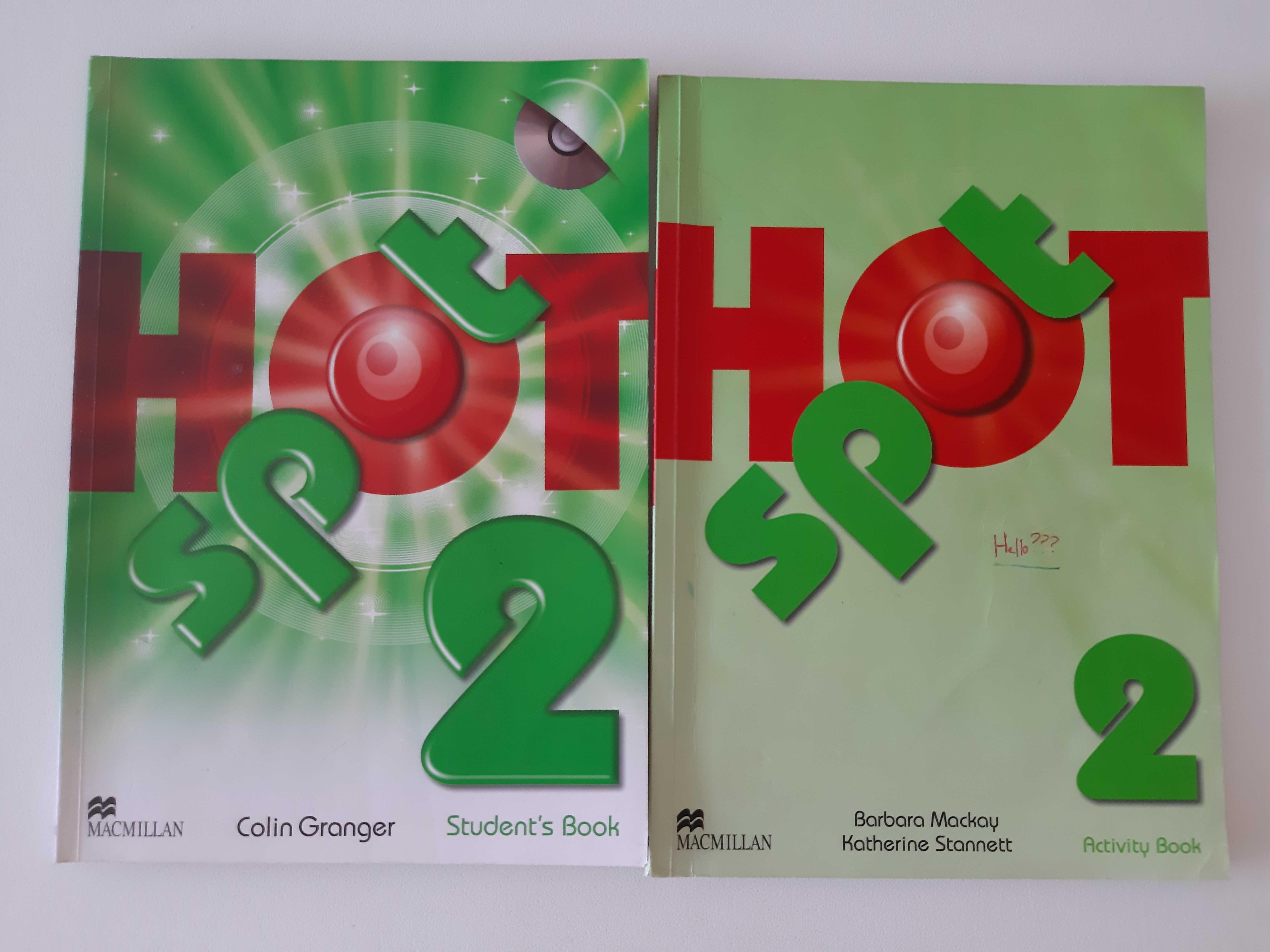 Livros de Inglês Hot Spot 2 com CD