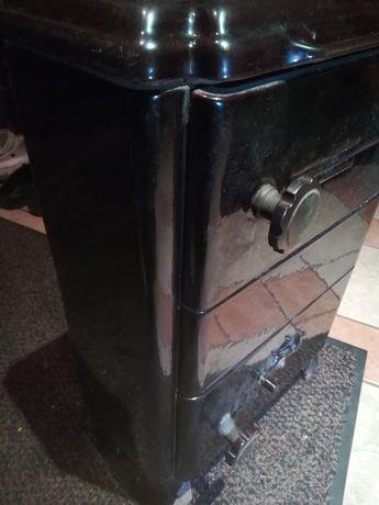 Zabytkowy piec żeliwny z ceramiką szamot Buderus G32 piecyk +rury