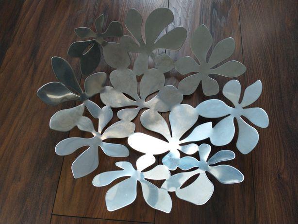 Taca Stockholm Ikea srebrna talerz liście jak nowa!