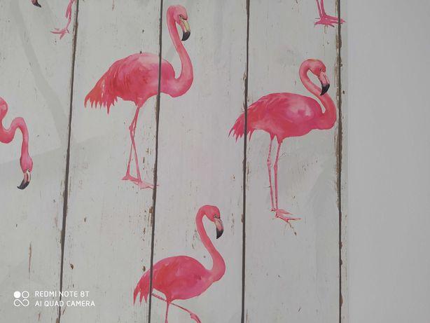 NOWA tapeta flizelina flamingi 1 rolka