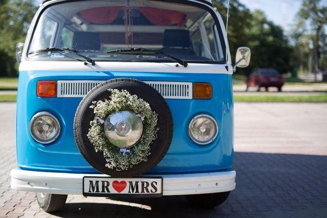 VW T2 Ogórek Bulik auto do ślubu dla 7 osób, wynajem na wesele / WWA