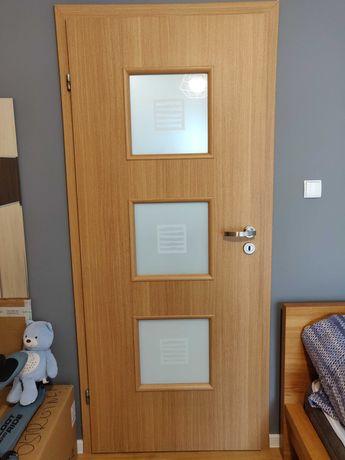 Drzwi pokojowe lewe + łazienkowe lewe