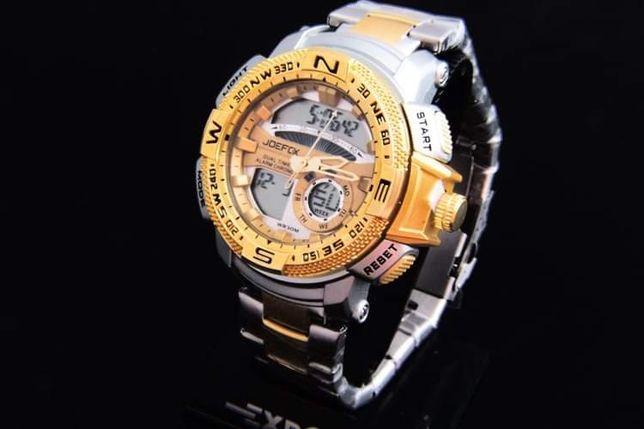 Zegarek męski na bransolecie kwarcowy polecam stal chirurgiczna!!
