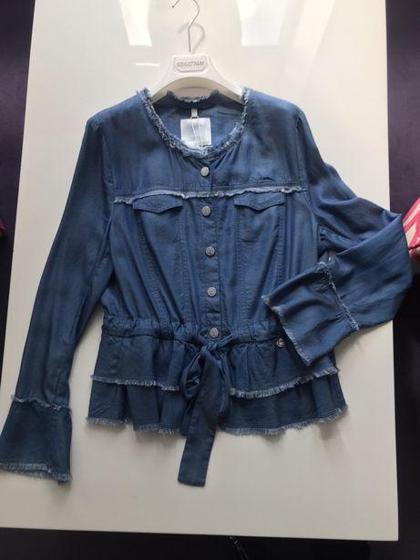 Koszula Sportalm jeansowa XL falbanki nowa kolekcja