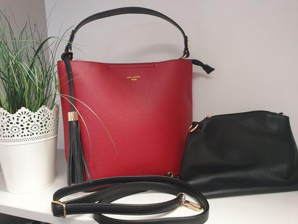 Czerwona torba torebka 2w1 galantry