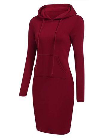 Платье 42р, цвет бордо, длина 100см