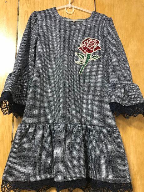 Плаття на дівчинку зростом 140см