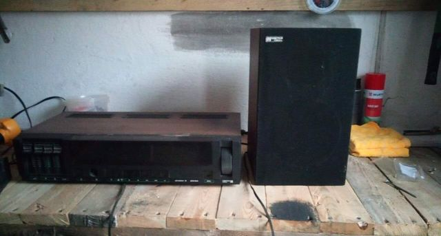 Zestaw stereo UNITRA amator 2 z dwoma glosnikami