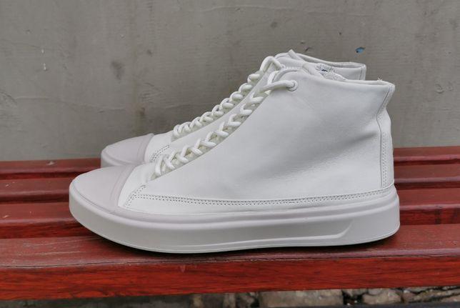 Кожаные демисезонные кроссовки кеды ботинки 45 р. ECCO Flexure T-Cap