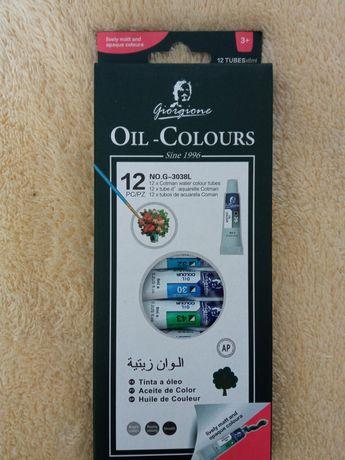 Краски масляные 12 цветов