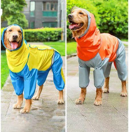 Новый дождевик - комбинезон для собак средних размеров
