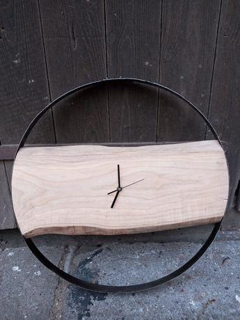 Zegar drewno i metal