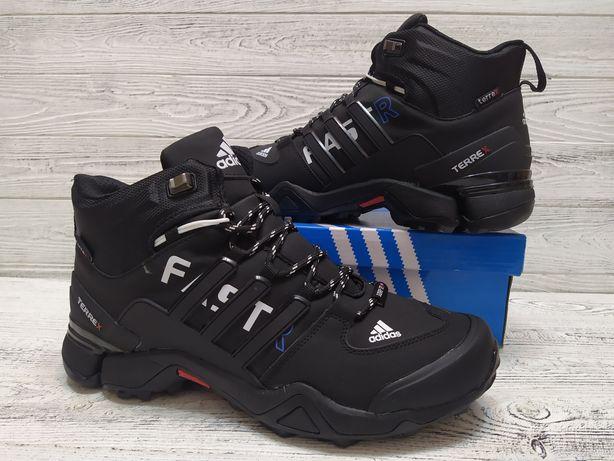 Мужские зимние кроссовки ботинки Adidas Fast Terrex Gore Tex