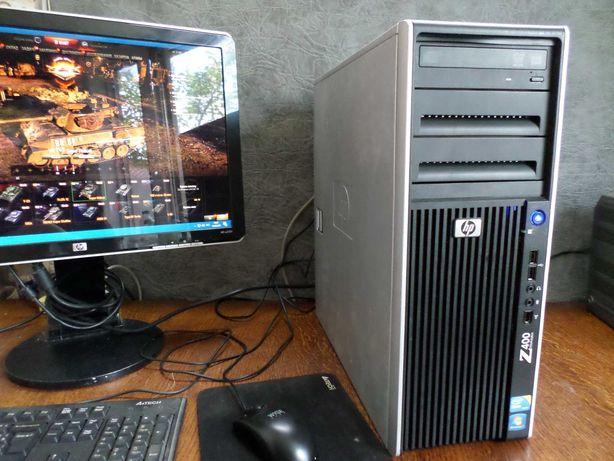 Игровой Hewlett-Packard HP Z400 .6-12 ядер.8GB.500GB HDD+видик на 2 гб