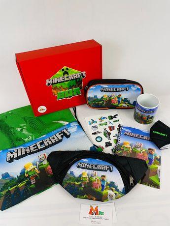 Minecraft Box - Подарочный набор Майнкрафт - бананка пенал Подарок