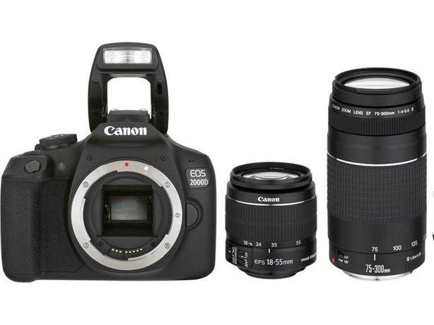 Kit Máquina Fotográfica CANON EOS 2000D + 18-55MM f/3.5-5.6 IS (APS-C)