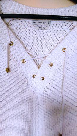 Swetr Zara Knit biały