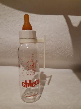 Детская стеклянная бутылочка chicco