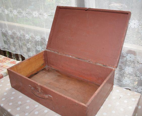 Чемодан деревянный ручной работы, Чемодан ретро, антиквариат,