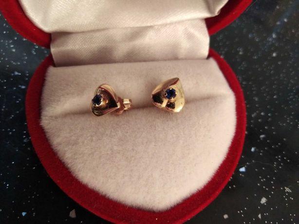 Piękne złote kolczyki pr. 585  Nowa cena Okazja!