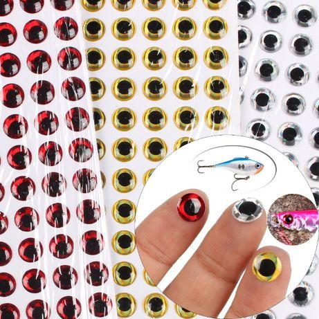 Oczka 3D średnicy 7 mm 200 szt na woblery, gumy, zabawki .