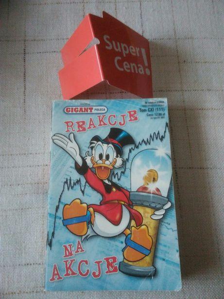 """książka komiks """"reakcje na akcje"""" Walt Disney"""