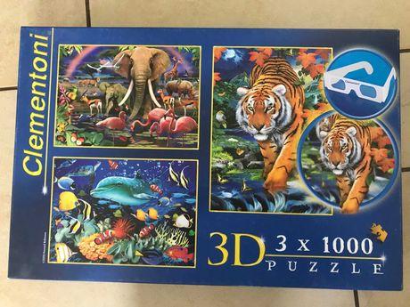 Puzzle 3D 3x 1000!!! plus gratis gra edukacyjna Upwords