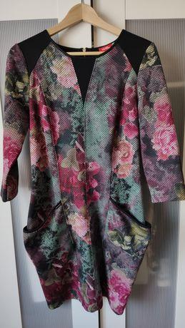 Elegancka sukienka dzianina S/M