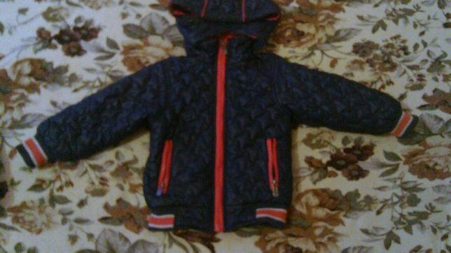 Курточка стеганная на мальчика осенне-весенняя на флисе 110 размер